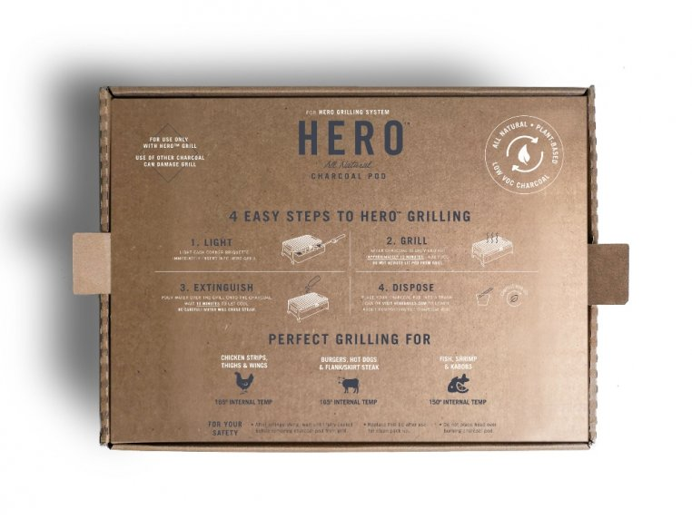 HERO™ Grill Charcoal Refill - 2-Pack by Fire & Flavor - 4