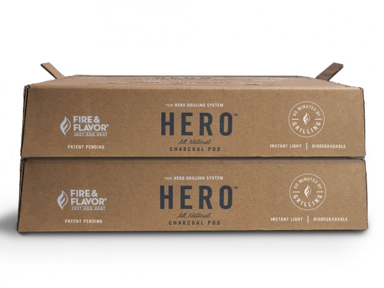 HERO™ Grill Charcoal Refill - 2-Pack by Fire & Flavor - 5