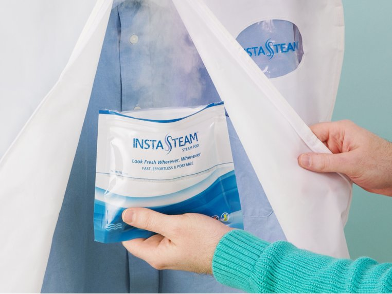 Electricity-Free Clothing Steamer Kit by InstaSteam - 1