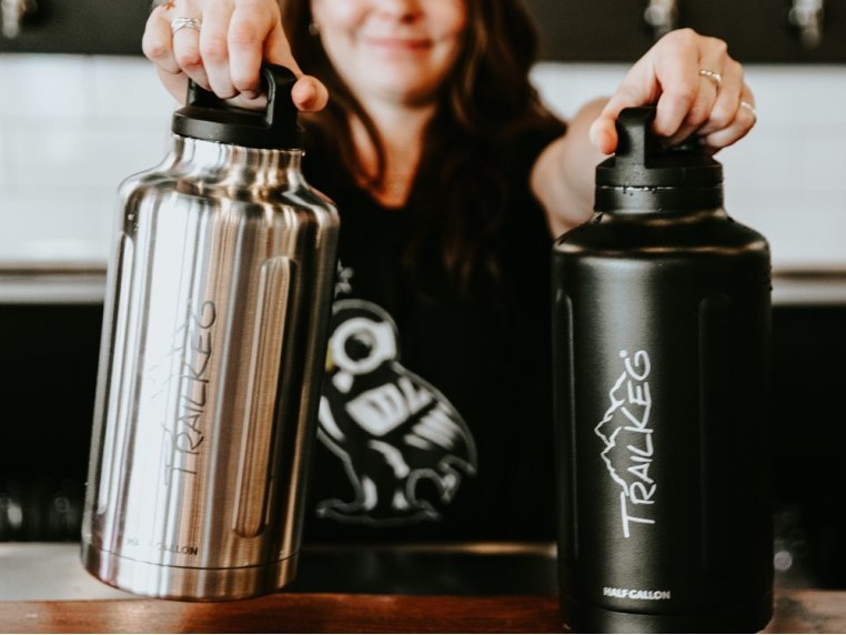 Half Gallon Vacuum Insulated Growler by TrailKeg - 2