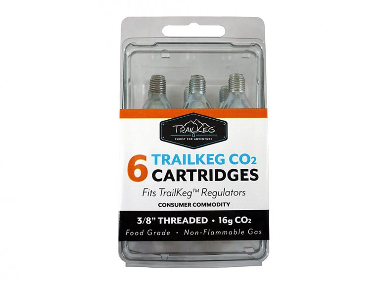 Growler CO2 Refill Cartridges - 6-Pack by TrailKeg - 2