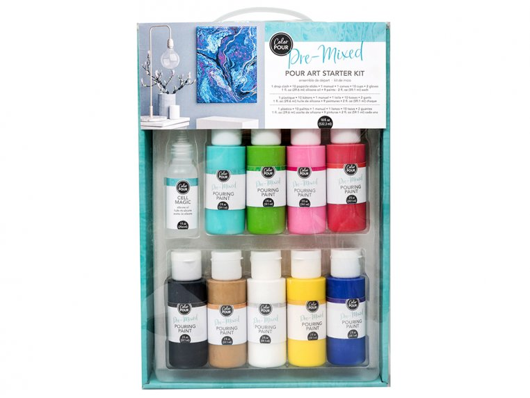 Color Pour Painting Starter Kit by American Crafts - 9