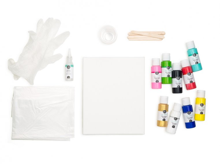 Color Pour Painting Starter Kit by American Crafts - 10