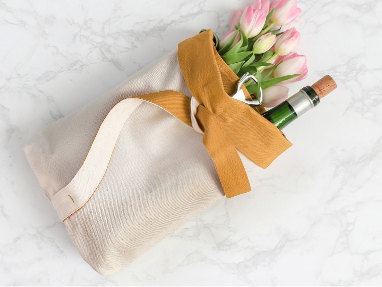 Reusable Wine Tote Bag by Aplat - 2