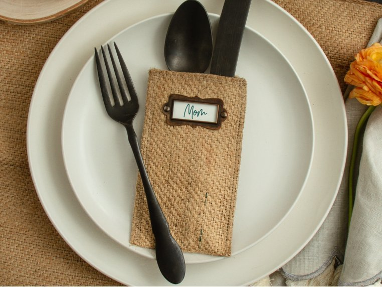 Message Maker Silverware Pouch - Set of 8 by Cutlery Couture - 1