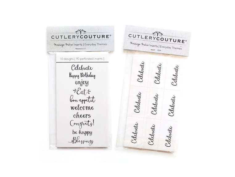 Message Maker Silverware Pouch - Set of 8 by Cutlery Couture - 3