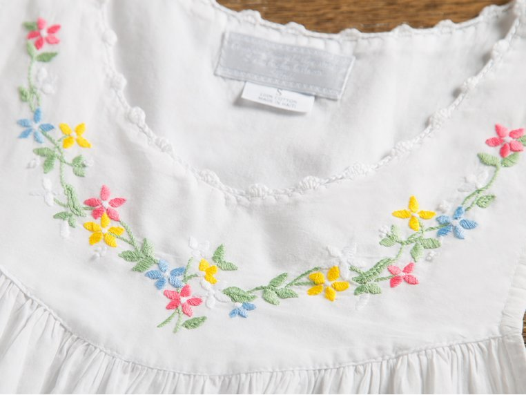 Hand-Embroidered Nightgown by Haiti Projects - 4