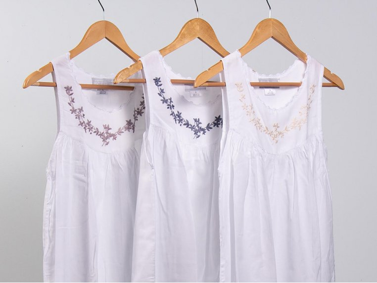 Hand-Embroidered Nightgown by Haiti Projects - 3