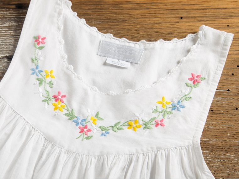 Hand-Embroidered Nightgown by Haiti Projects - 1