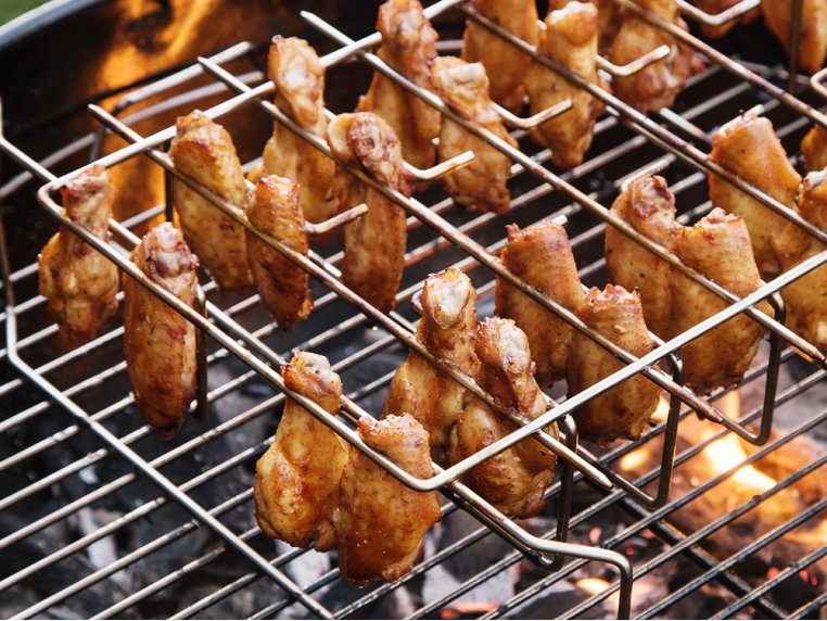 Wing, Drumstick & Ribs Grill Rack by Best South BBQ - 2