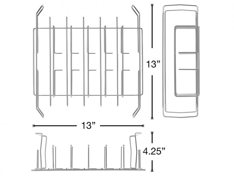 Wing, Drumstick & Ribs Grill Rack by Best South BBQ - 4
