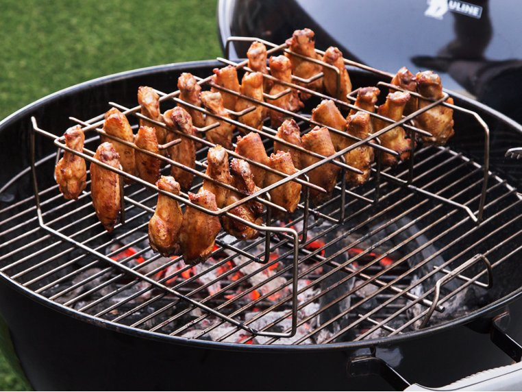 Wing, Drumstick & Ribs Grill Rack by Best South BBQ - 1