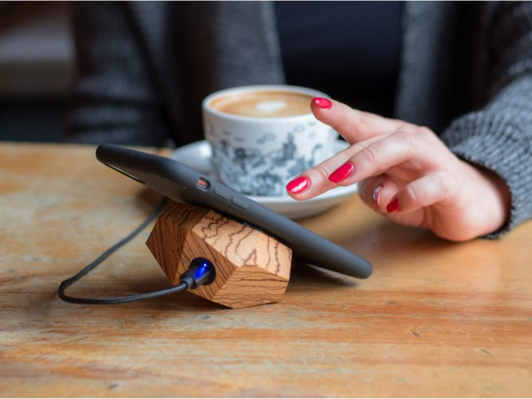 Wooden Wireless Charging Station by Halostands - 3