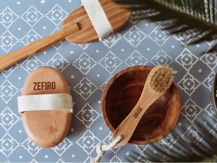 Bath & Body Brush Set by Zefiro - 4