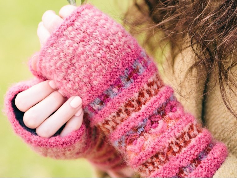 Iris Hand Warmers by French Knot - 1