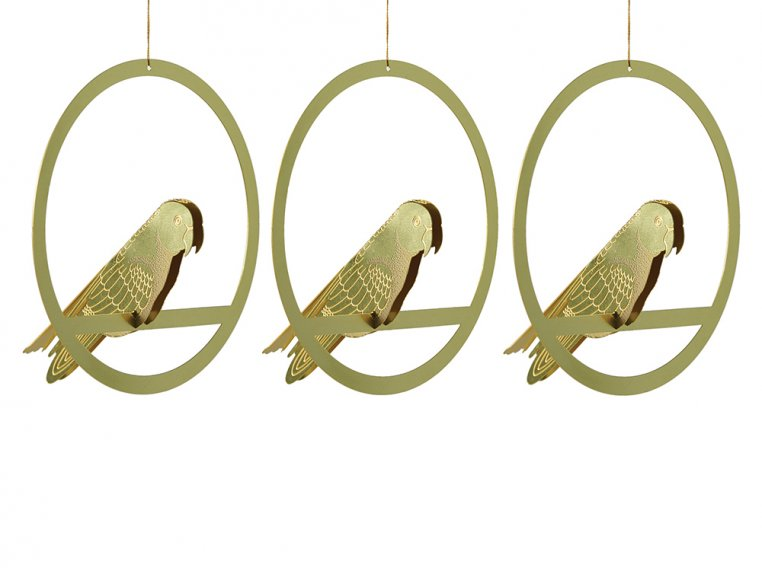 Three Brass Bird Ornament Set by Another Studio - 3