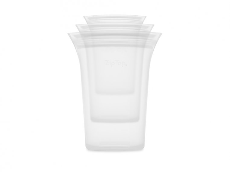 Collapsible Silicone Travel Cup Set by Zip Top - 5