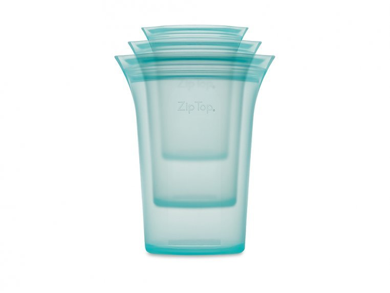 Collapsible Silicone Travel Cup Set by Zip Top - 6