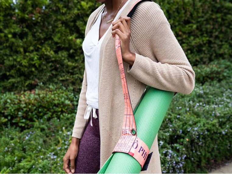 Recycled Feed Bag Yoga Mat Strap by Malia Designs - 1