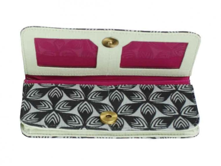 Screen Printed Long Wallet by Malia Designs - 3