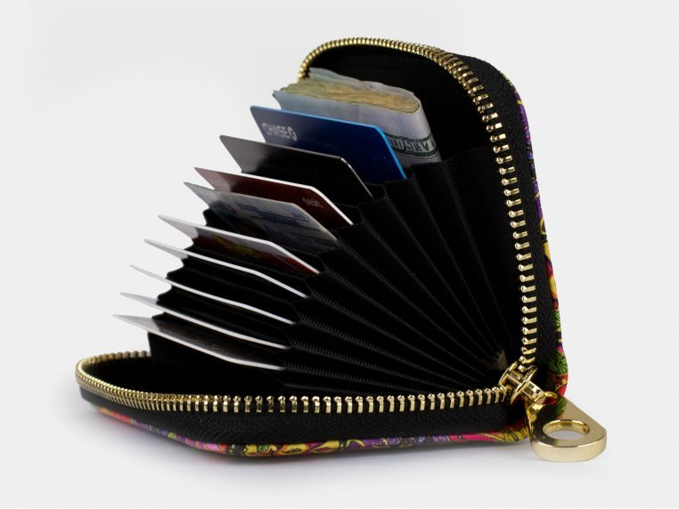 Artistic RFID Zipper Wallet by Monarque - 2