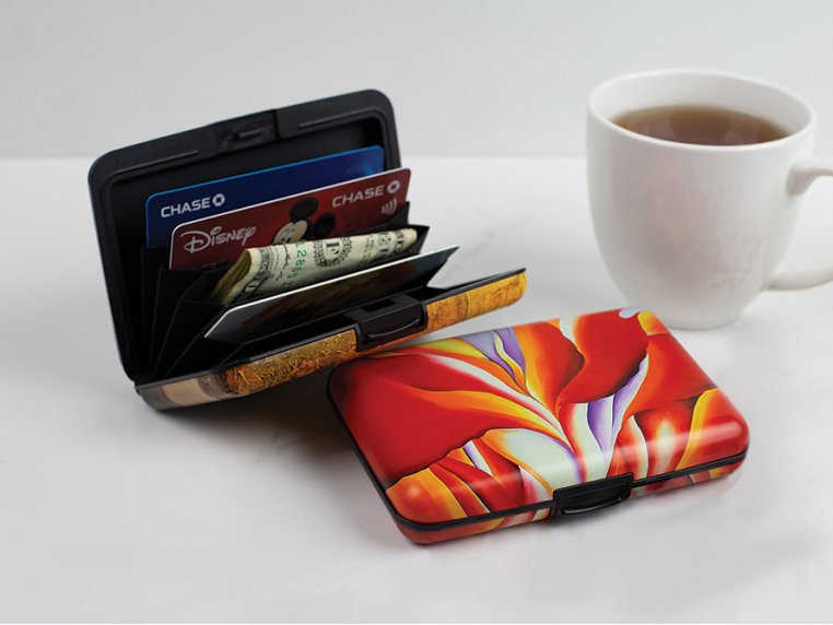 Artistic Armored Hard RFID Wallet by Monarque - 1