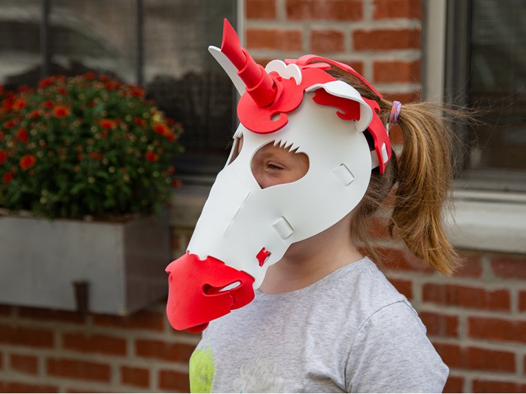 Washable Foam Animal Costume Masks by Go Fun Face - 1