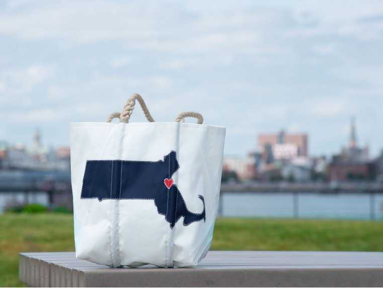 Massachusetts State Tote Bag by Sea Bags - 2