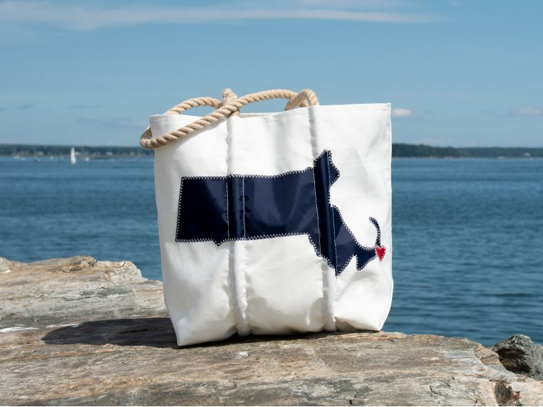 Massachusetts State Tote Bag by Sea Bags - 1