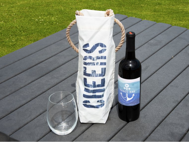 Recycled Cloth Wine Bag by Sea Bags - 2