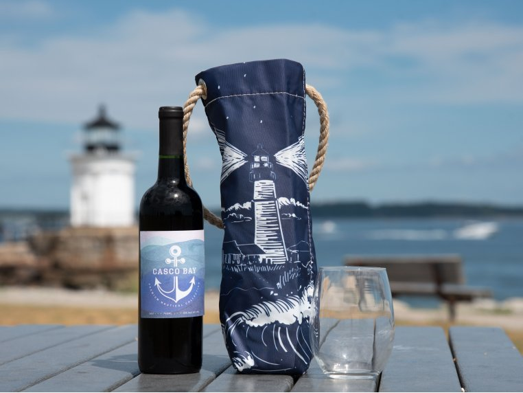Recycled Cloth Wine Bag by Sea Bags - 1