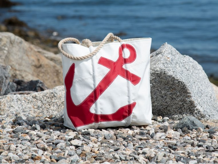 Recycled Cloth Anchor Tote Bag by Sea Bags - 1
