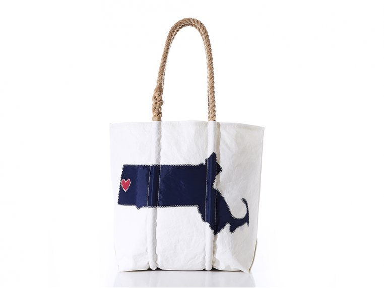 Massachusetts State Tote Bag by Sea Bags - 5