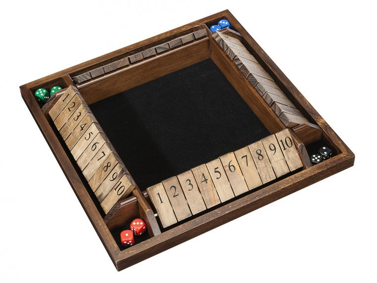 Wooden Shut The Box Game by WE Games - 2