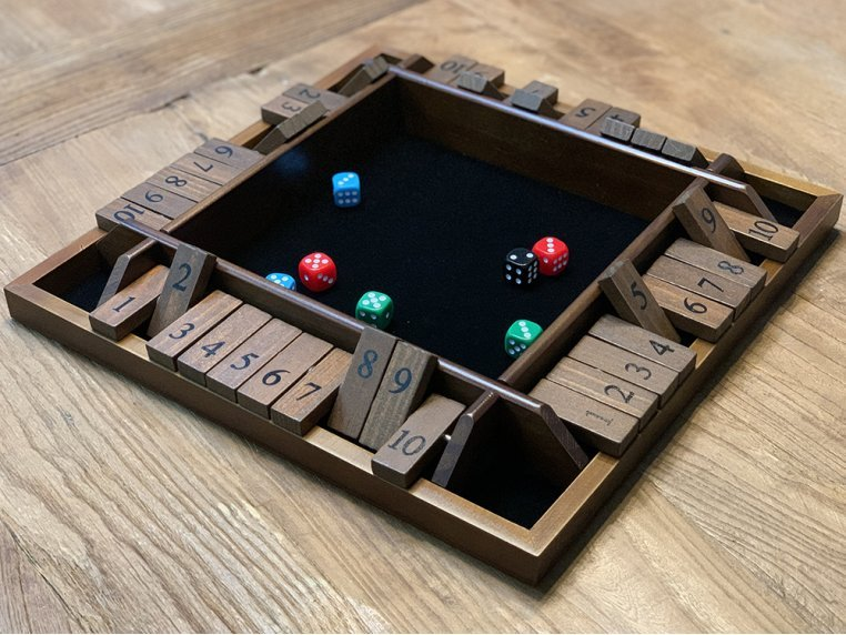 Wooden Shut The Box Game by WE Games - 1