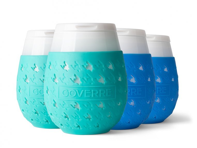 Colorful Chic Stemless Wine Glass Set by GOVERRE - 16