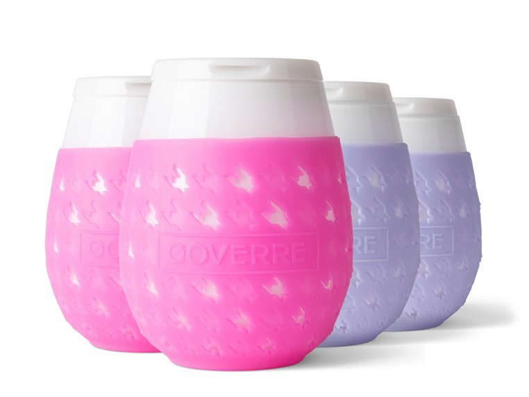 Colorful Chic Stemless Wine Glass Set by GOVERRE - 19
