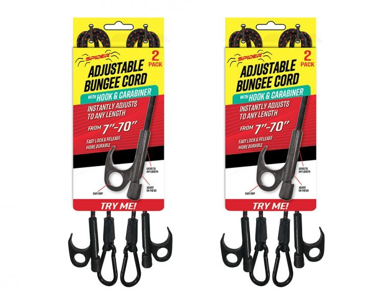 Heavy Duty Adjustable Bungee Cord - 4-Pack by Spider Tarp - 7