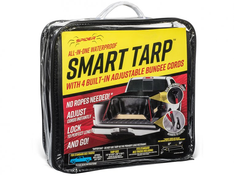 Waterproof Tarp with Attached Bungee Cords by Spider Tarp - 3