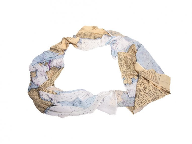 Chart Map Scarf by Mapisart - 2