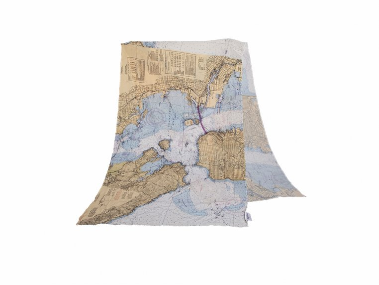 Chart Map Scarf by Mapisart - 3