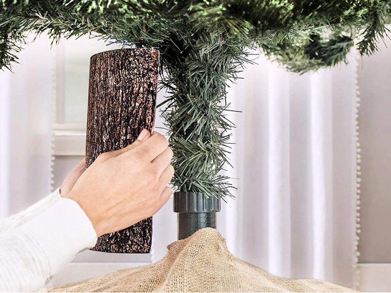 Artificial Tree Designed Pole Wrap by The Christmas Tree Hugger - 1