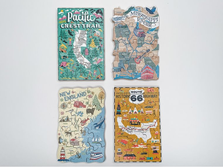 4-Pack Themed Pocket Puzzles by The Waterford Puzzle Company - 7