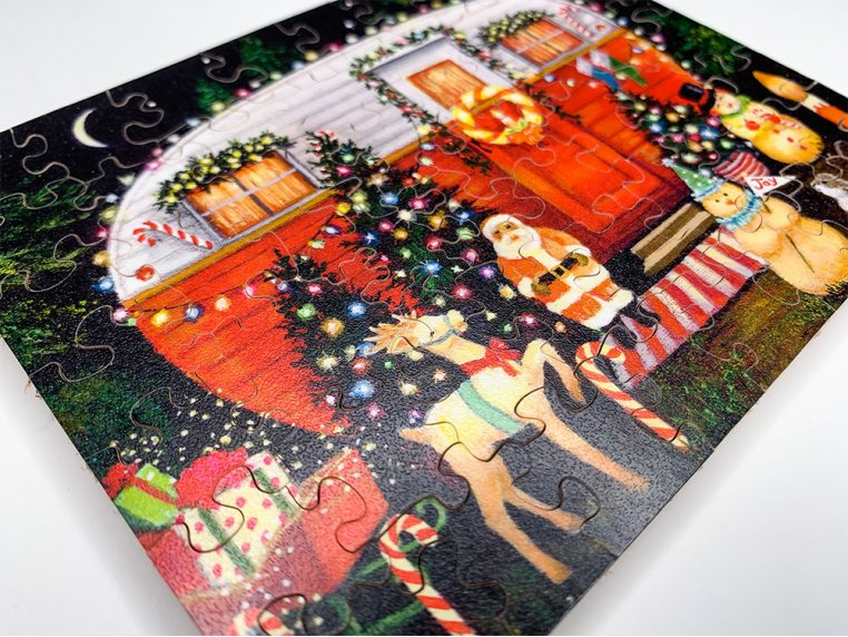 50 Piece Winter Holiday Theme Puzzle by The Waterford Puzzle Company - 2