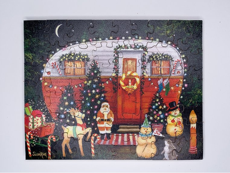 50 Piece Winter Holiday Theme Puzzle by The Waterford Puzzle Company - 1