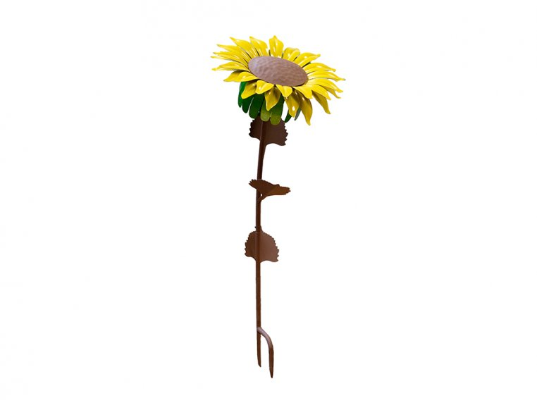 Metal Flower Garden Torch by Desert Steel - 6