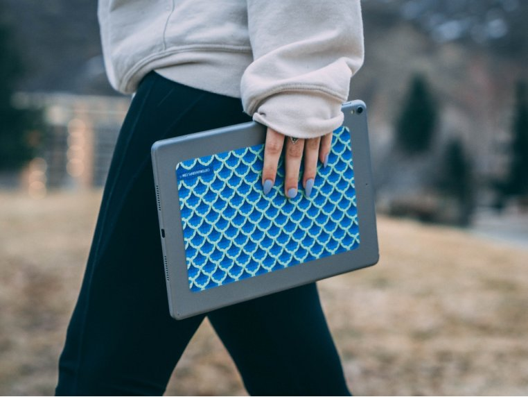 Slip Proof Laptop & Tablet Grip by CatTongue Grips - 1
