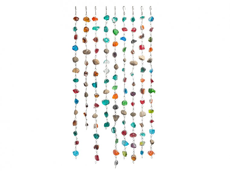 Recycled Art Glass & Rock Rain Chain by ApricotMint - 2