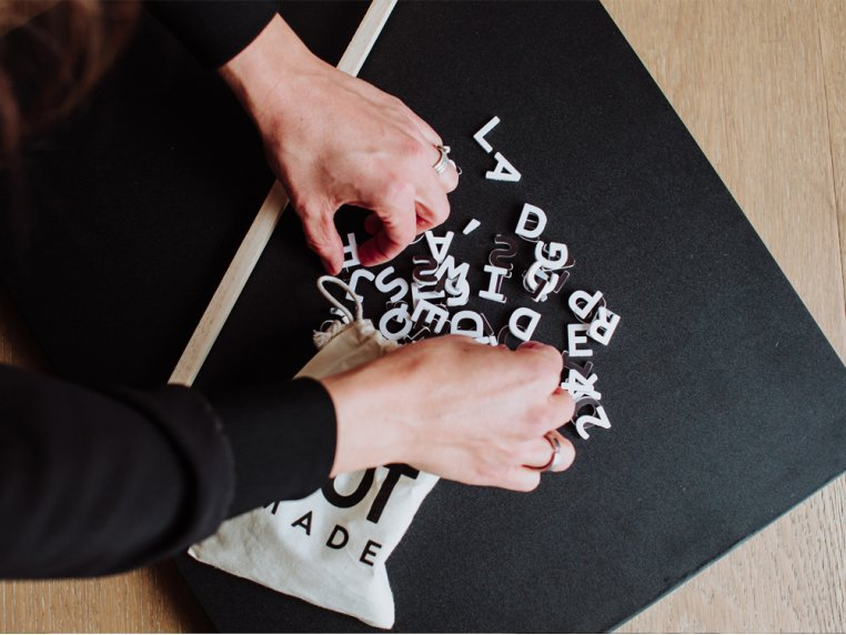 Wooden Magnetic Letter Board Kit by Jut Made - 2