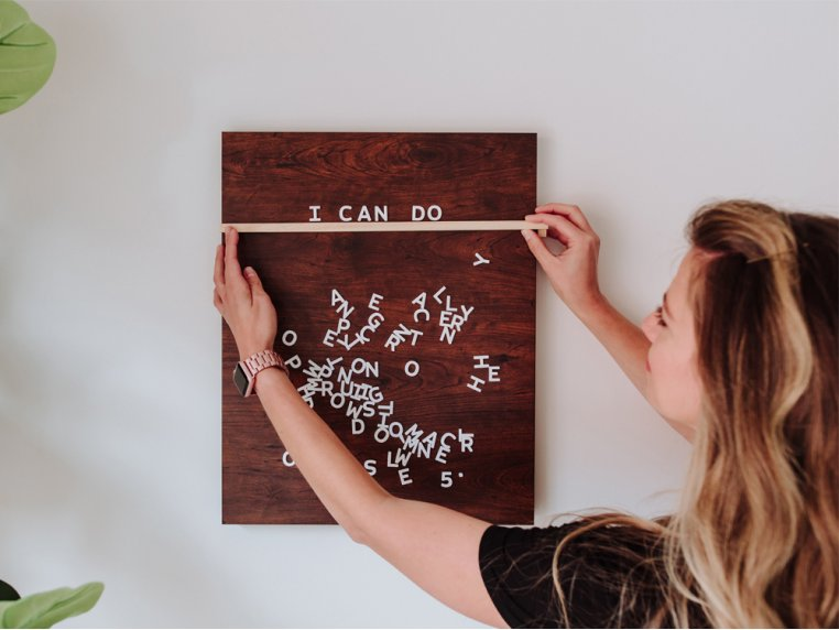 Wooden Magnetic Letter Board Kit by Jut Made - 1